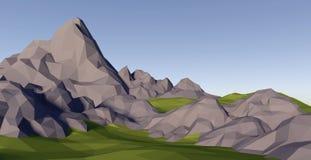 lowpoly landskap för abstrakt begrepp 3D Royaltyfri Foto