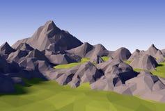 lowpoly landskap för abstrakt begrepp 3D Arkivbilder