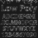Lowpoly Outline Font Royalty Free Stock Images