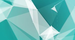 Lowpoly triangles backdrop VJ seamless loop. Close up low-poly white triangles on blue cyan background seamless VJ loop 15s 4K vector illustration