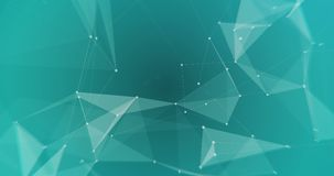 Lowpoly triangles backdrop VJ seamless loop. Low-poly white triangles on blue cyan background seamless VJ loop 15s 4K stock illustration