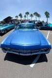 Lowrider blu del Impala di Chevy Fotografia Stock