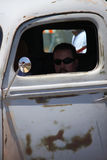 Man in Truck. Car show in Santa Barbara man sitting in his vintage truck Royalty Free Stock Images