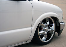 Lowrider Truck. The front wheel of a lowrider truck Royalty Free Stock Photos