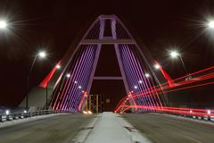 Lowry-Alleen-Brücke in Minneapolis Lizenzfreies Stockfoto