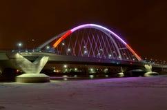 Lowry Avenue Bridge in Minneapolis royalty free stock photography