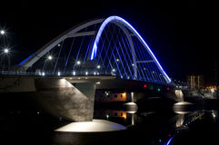 Lowry Avenue Illuminated Bridge Royalty Free Stock Image