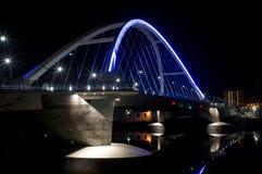 Lowry Avenue Illuminated Bridge royalty free stock image