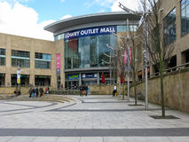 Lowry Plaza, Salford kajer, Manchester Royaltyfria Foton