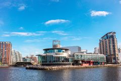 The Lowry at Salford Quays, Manchester, England. stock photo