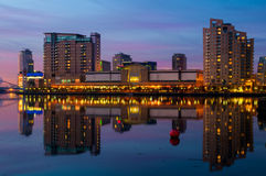 Lowry salford quays reflection Royalty Free Stock Images