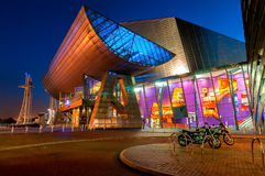 Lowry teater Manchester royaltyfria bilder