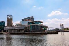 Lowryen på Salford kajer, Manchester UK Arkivbilder