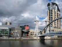 Lowryen, Salford kajer, Manchester Royaltyfria Bilder