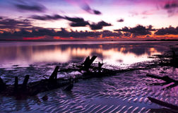 Lowtide sunset Stock Image