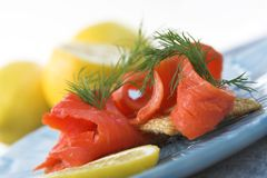 Lox appetizers Royalty Free Stock Images