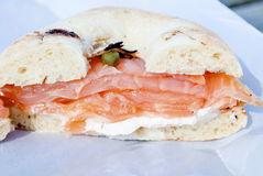 Lox Bialy Stock Photography