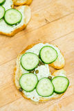 Lox delight sandwich Stock Images