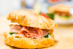 Lox delight sandwich Stock Photo