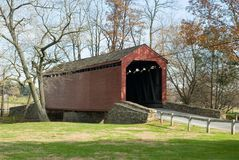 The Loy Covered Bridge Stock Images