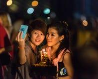loy festivalkrathong Arkivfoton