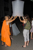 loy festiwalu krathong Zdjęcia Royalty Free