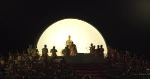 Loy Khratong Lantern Festival vídeos de arquivo