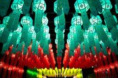 Loy Krathong灯节在清迈泰国 免版税库存图片