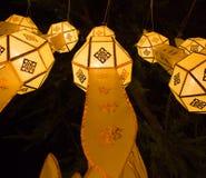 Loy Krathong灯节在清迈 库存图片