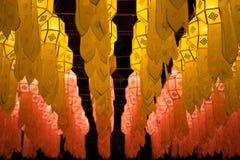 Loy Krathong灯节在清迈 免版税图库摄影