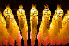 Loy Krathong灯节在清迈 免版税库存照片