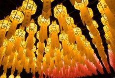 Loy Krathong灯节在清迈 免版税库存图片