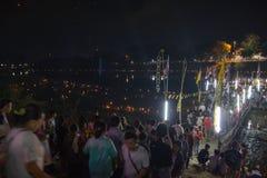 Loy Krathong в Таиланде Стоковое Изображение