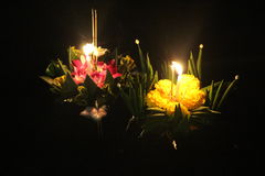 Loy Krathong stockfotos