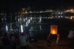 Loy Krathong Day in chiangmai Tailandia Immagine Stock