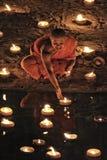 Loy Krathong festival i Chiangmai Arkivbild