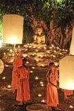 Loy Krathong festival i Chiangmai Royaltyfri Bild