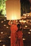 Loy Krathong festival i Chiangmai Royaltyfria Foton