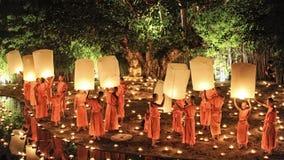 Loy Krathong festival i Chiangmai Arkivfoto