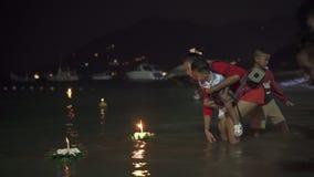 Loy Krathong festival in Koh Tao Thailand