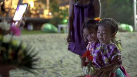 Loy Krathong festival in Koh Tao Thiland