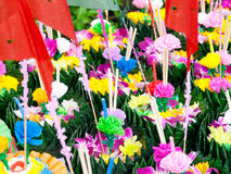 Loy Krathong Festival. Krathong made with banana leaves for floating tradition in Thailand Royalty Free Stock Image