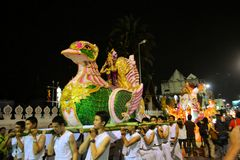 Loy Krathong festival parade for Yee Peng, Chiang Stock Images