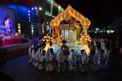 Loy Krathong festival parade for Yee Peng, Chiang Stock Image