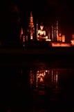 Loy Krathong festival  in Sukhothai historical park Royalty Free Stock Photography