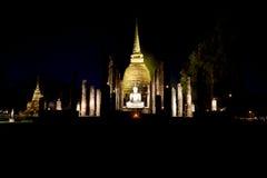 Loy Krathong festival  in Sukhothai historical park Stock Photos
