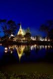 Loy Krathong festival  in Sukhothai historical park Stock Image