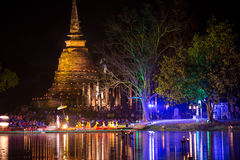 Loy krathong festival in Sukhothai Stock Photography