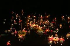 Loy krathong festival, thailand Stock Photo
