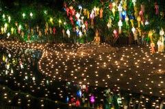 Loy Krathong festival at Wat Phan Tao Royalty Free Stock Image